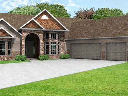 Ranch style house plans with attached garage economical for 3 car garage ranch home plans