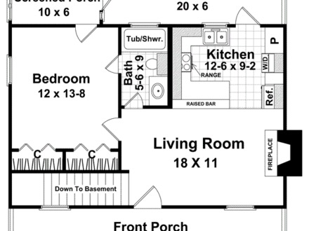 Simple One Bedroom House Plans One Bedroom Home Plans