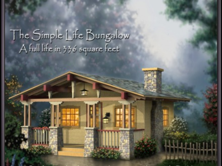 Simple Small House Bungalow Tiny Romantic Cottage House Plan