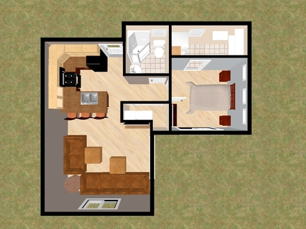 Simple Small House Floor Plans Small House Plans Under 500 Sq FT