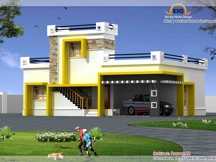 Single Floor House Plans Large Rooms Single Floor House Front Design