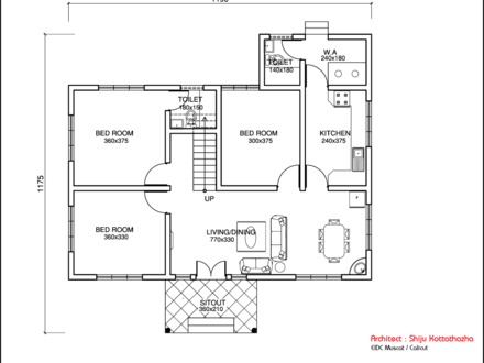 Single Floor House Plans One Bedroom House Floor Plans