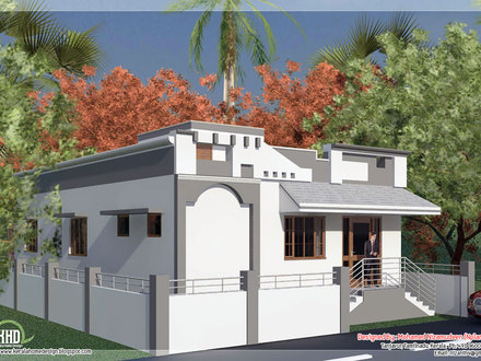 Single Floor House Plans with Open Design Indian Single Floor House