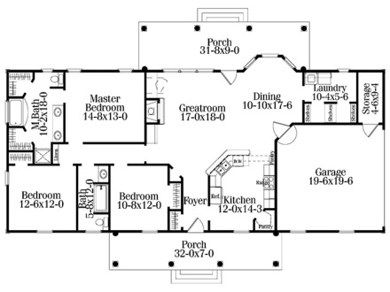 Single Level House Plans Single Level House Plans with Open Floor Plan