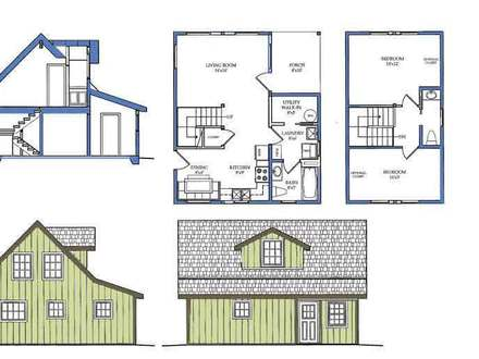 small house plans with loft bedroom 20x20 cabin plans treesranch 27505