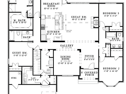 Single Story Open Floor Plans Open Floor Plan House Designs