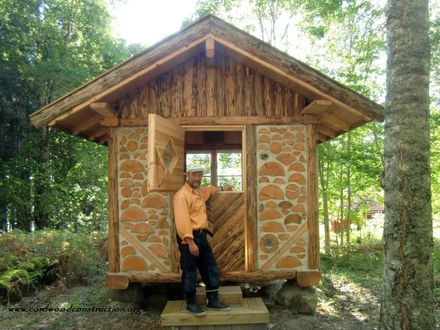 Small Cabin in the Woods Small Cordwood Cabins