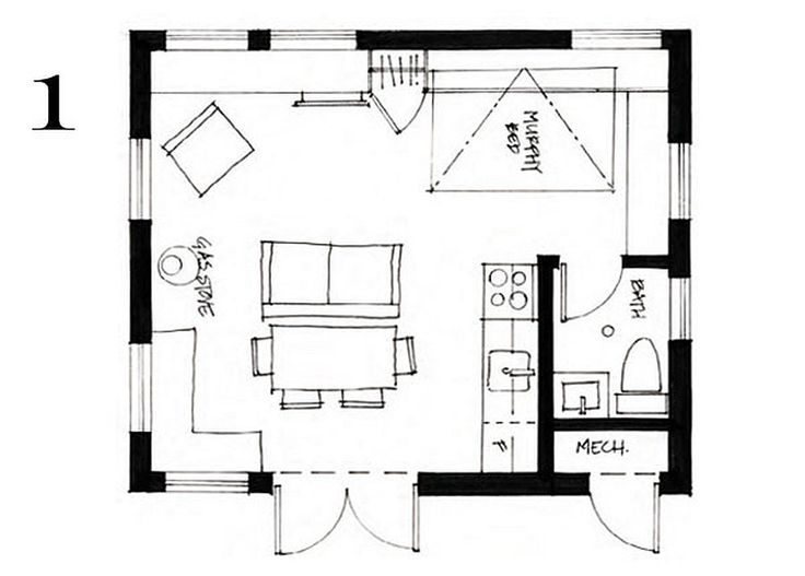 Small cottage house floor plans small cottage house plans for Small house plans under 700 sq ft