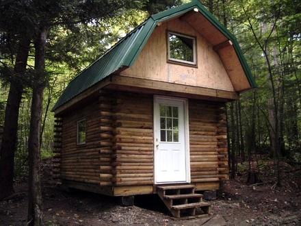 Small Log Cabin Plans with Loft Log Cabin with Loft