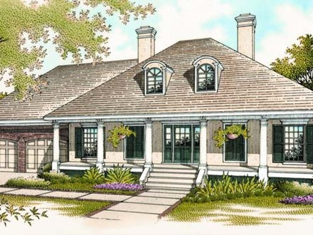 Southern House Plans Single Story Classic Southern House Plans