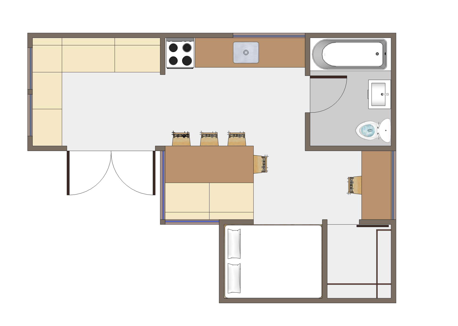 Tiny House Floor Plans Small Cabins Tiny Houses