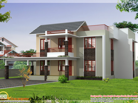 South indian house design with porticos best indian house for Traditional indian house designs