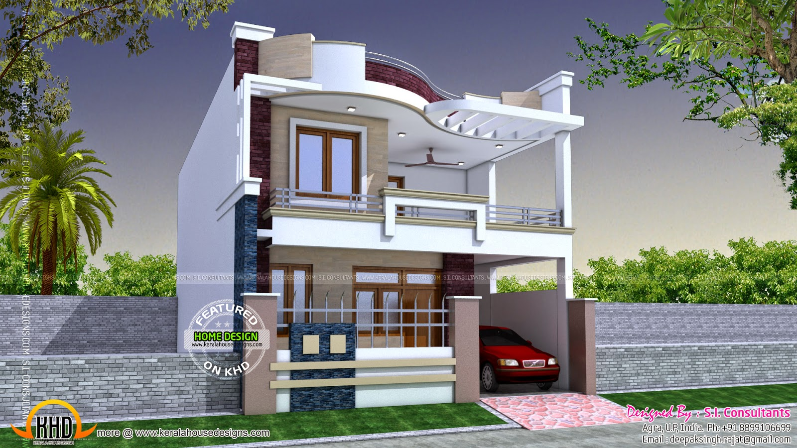 Unique modern house plans modern indian home design for Unique modern house designs