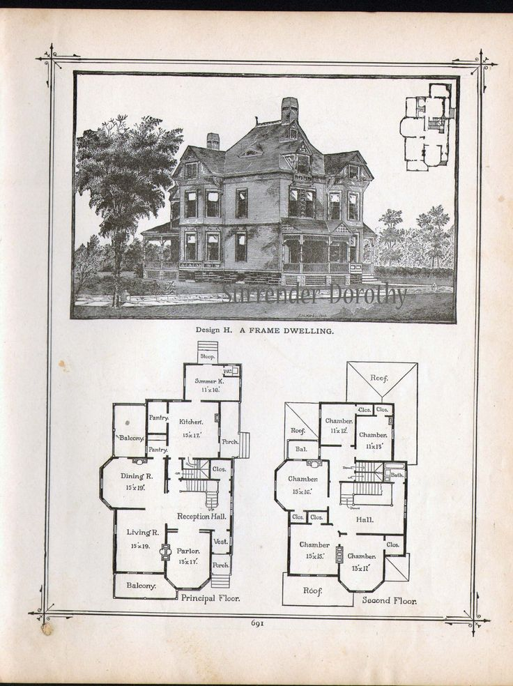 Vintage victorian house plans 18 century victorian house for Century homes floor plans