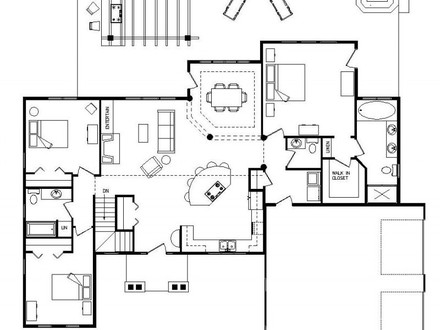 1800 Sq FT Raised Ranch 1800 Sq FT Ranch Home Floor Plans