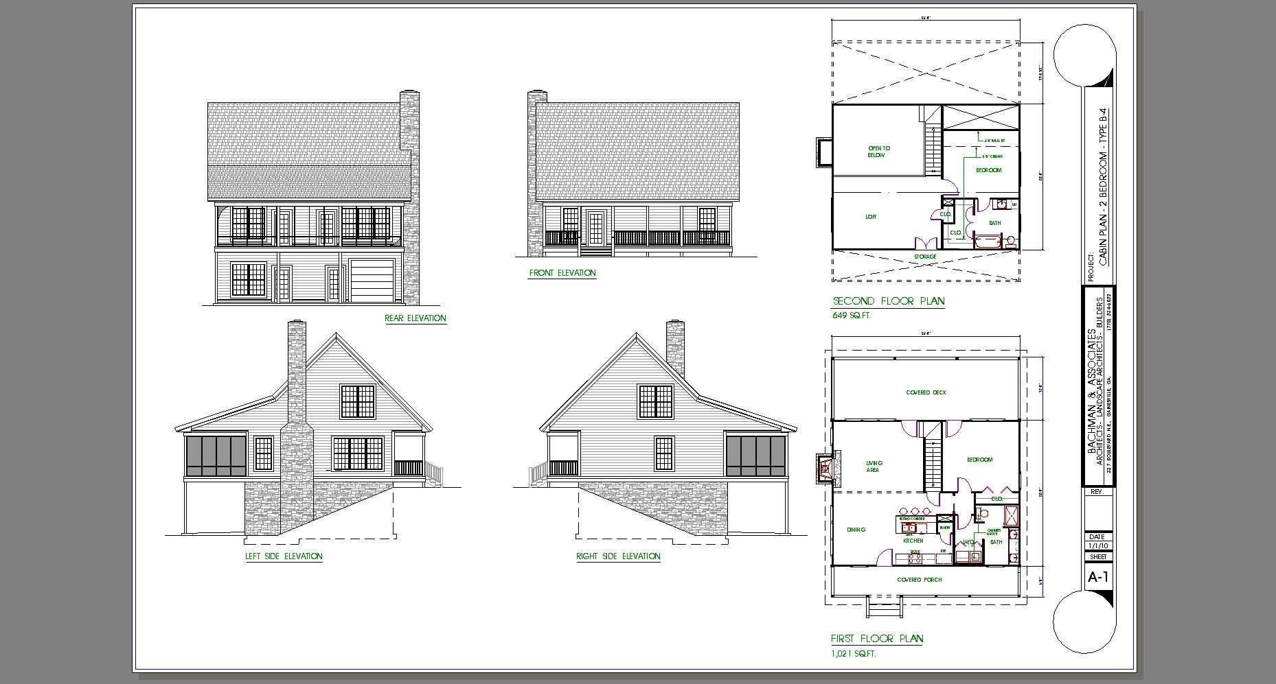2 bedroom cabin plans 2 bedroom cottage house plans 4 for Two bedroom bungalow plans