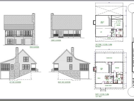 2 Bedroom Cabin Plans 2 Bedroom Cottage House Plans
