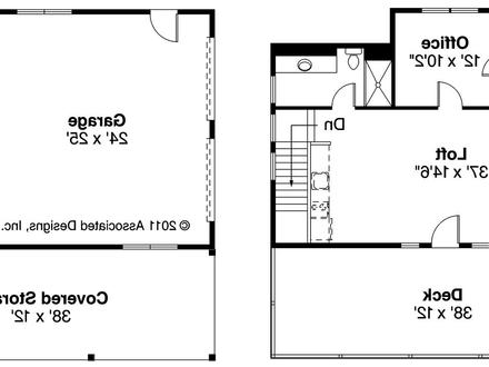 2 Car Garage Plans 2 Car Garage with Loft Floor Plans
