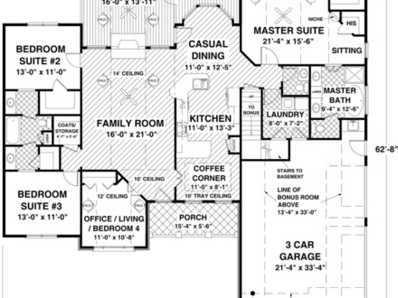 2000 Sq FT Ranch House Plans 1200 Sq FT Blueprints