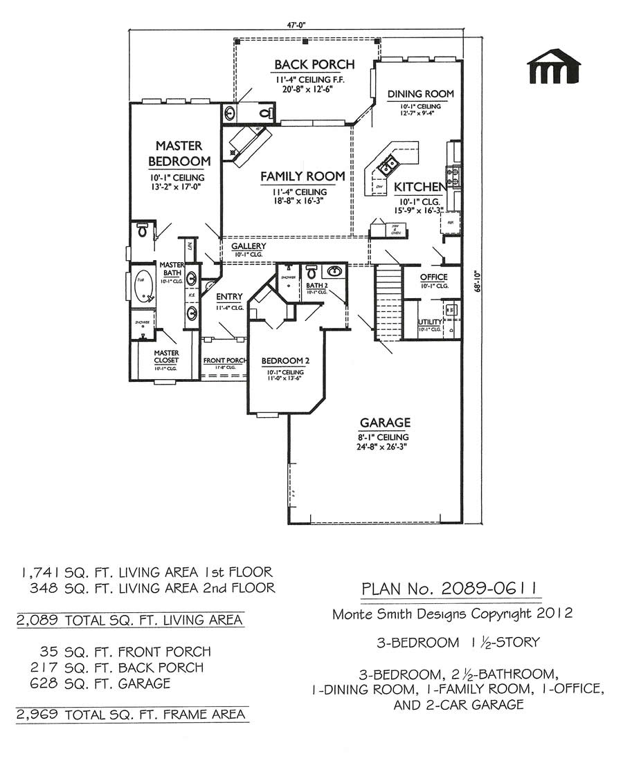 3 bedroom house floor plans 3 bedroom section 8 houses for 3 bedroom with office house plans