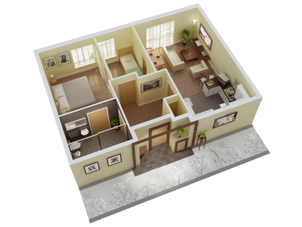3D Floor Art 3D Home Design Floor Plan