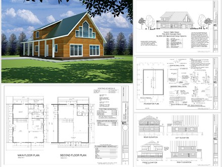600 Sq FT Cabin Plans with Loft 600 Sq Ft. House Layout