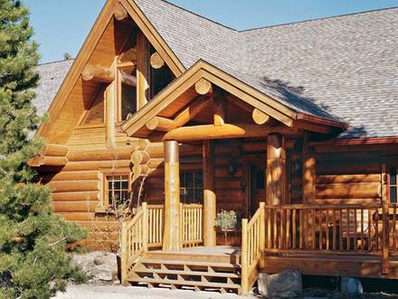 Mountain log homes of colorado rocky mountain log homes for Log cabin builders in california