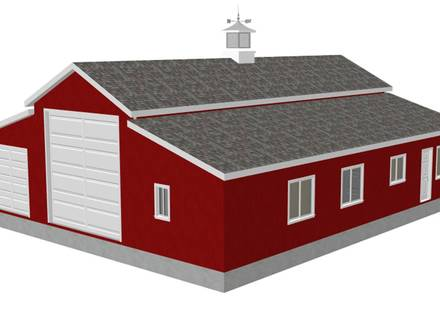 Barn Garage with Apartment Plans Pole Barn Garages