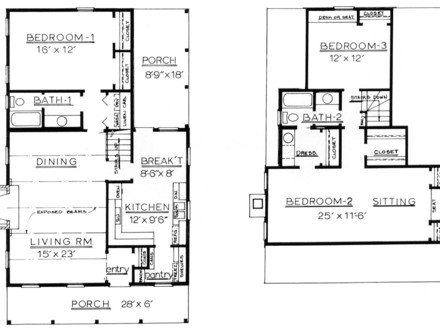 Small log cabin homes plans small cabin floor plans with for Basic log cabin plans