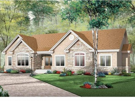 Bay Window Small House Bungalow One Story Bungalow House Plans