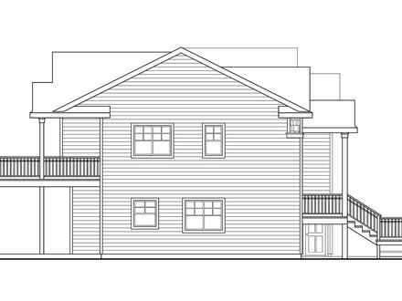 Beach House Plans Narrow Beach House Plan Snowberry 30 735 Right Elevation