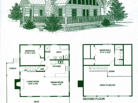 Small cabins tiny houses small cabin floor plans with loft for Large log cabin floor plans