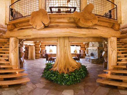 Biggest Luxury Log Home Luxury Log Cabin Home
