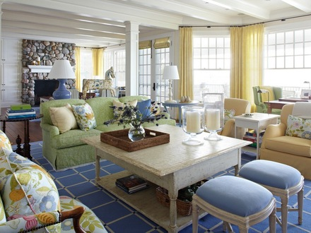 Blue and Yellow Cottage Living Room Exterior Paint Blue and Yellow Cottages