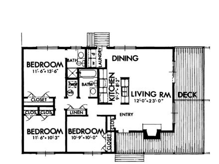 Free house plans blueprints free printable house for Free log bed plans