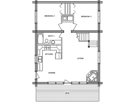 Small cabin floor plans with loft inexpensive small cabin for Camp house plans