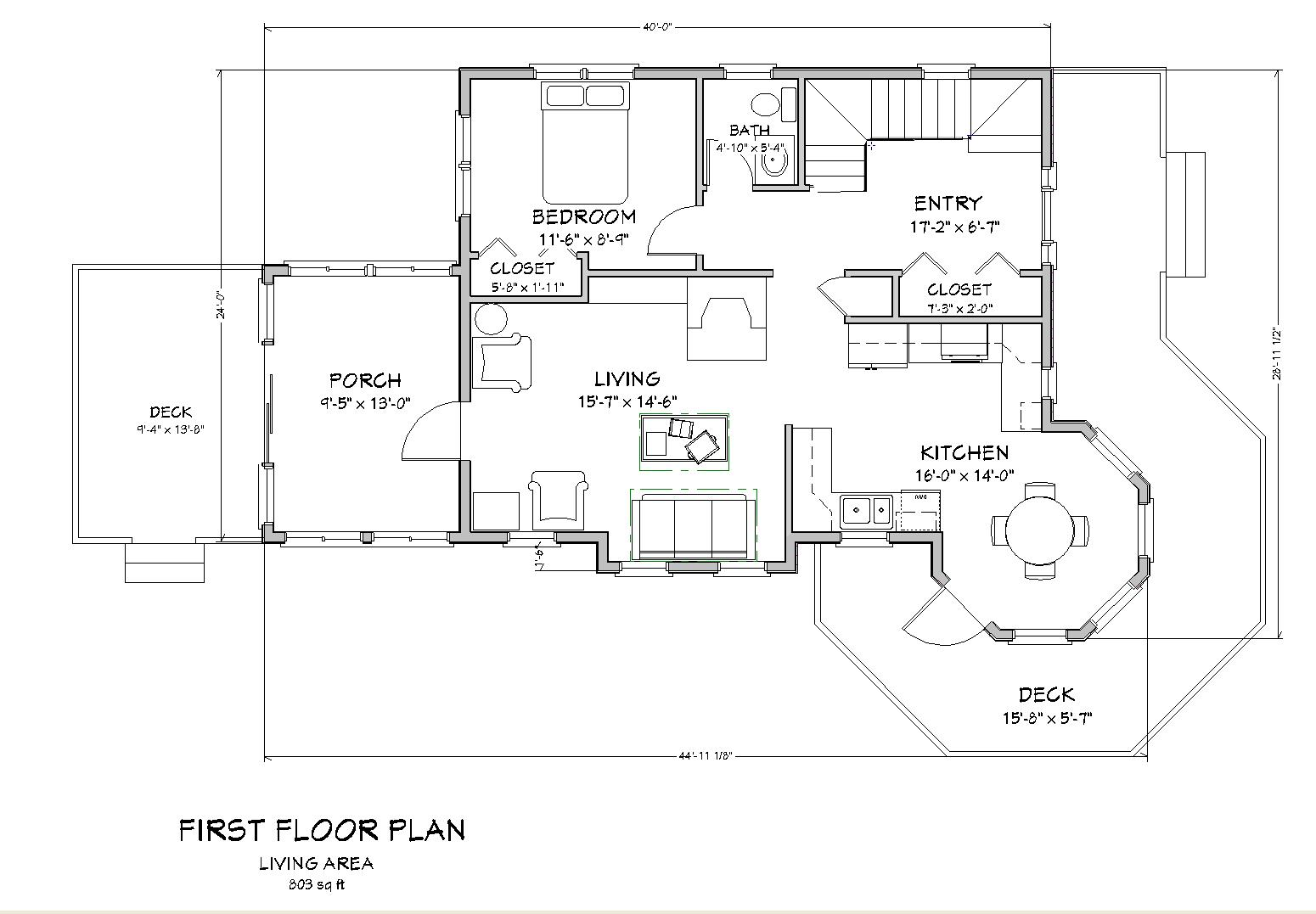 Cottage floor plan simple cottage floor plans seaside for Cottage blueprints and plans