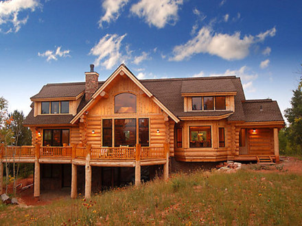 Inexpensive Modular Homes Log Cabin Modular Log Home