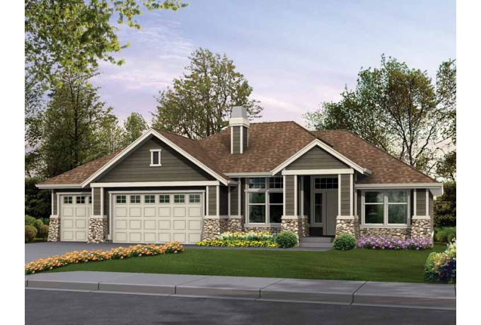 Craftsman rambler house plans custom rambler house plans for Custom home building plans