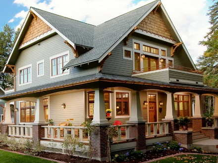 Craftsman Style Homes Wrap around Porch Single Story Craftsman Style Homes