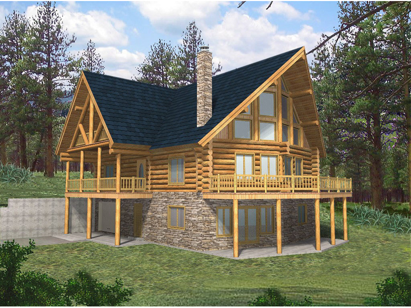 Exterior rustic lake house rustic lake home house plans for Lake view home plans