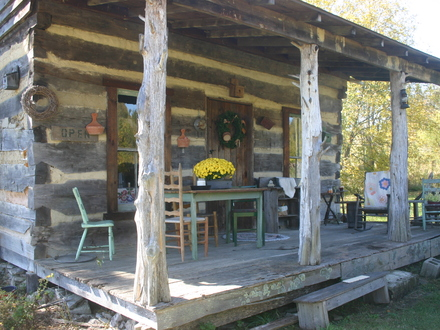 Grandpa\'s Old Front Porch Old Cabin Front Porch