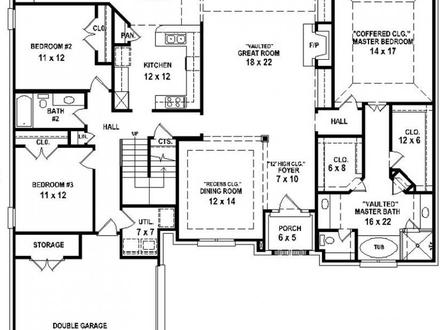 House 4 Bedrooms 3 Bath Floor Plan 4 Bedroom Houses for Rent