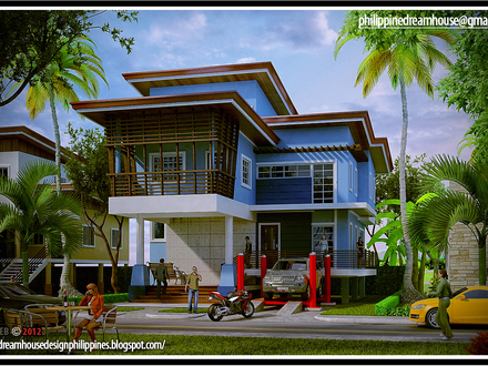 Shd 2014012 design6 view03 elevated home designs for Minimalist home designs philippines
