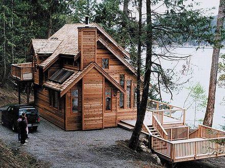 House Plans Waterfront Cabin Waterfront Homes House Plans