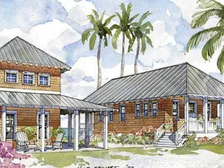 Island Oasis House Plans Tropical House Plans