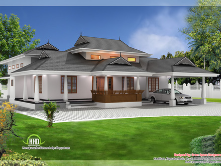 Kerala Traditional Houses Kerala Single Floor House Plans