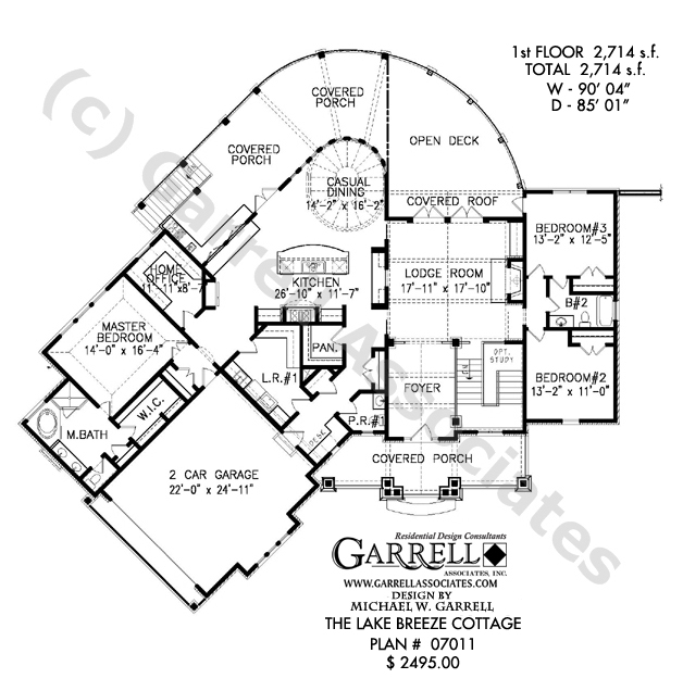 Lake house open floor plans one story open floor house for Lake house designs floor plans