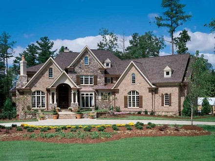 Large New American Brick Home 5 Bedroom 3 Bath Home Plans Brick Home House Plans