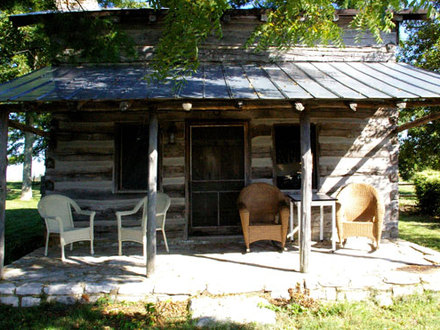 Log Cabin in the Mountains Log Cabin Front Porch